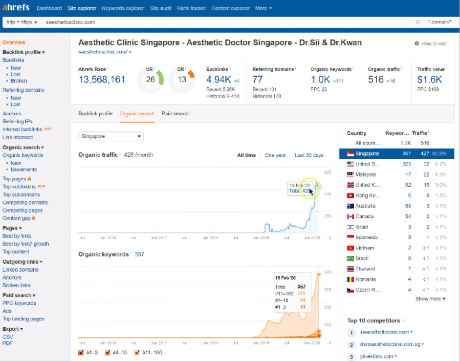 Ahrefs Overview1