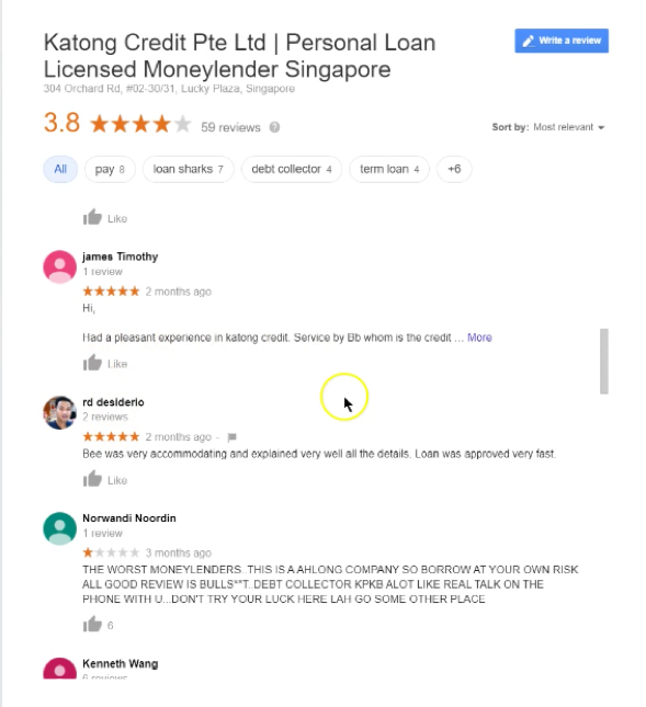 personal loan singapore katong
